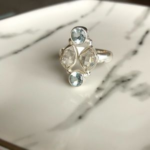 Jewelry - ✨NEW✨ Ring Topaz Herkimer Diamond & SterlingSilver